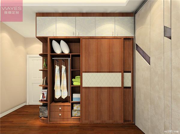 掩门衣柜  使用时以门铰为圆心,进行悬空旋转,需要在柜门前留有