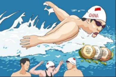 今年里约奥运会上,中国游泳队战绩骄人,有意思的是,参赛的姑娘小伙图片