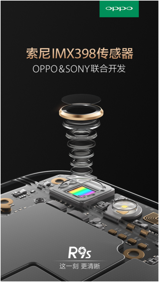 OPPO与SONY联合开发IMX398传感器,用于R9s
